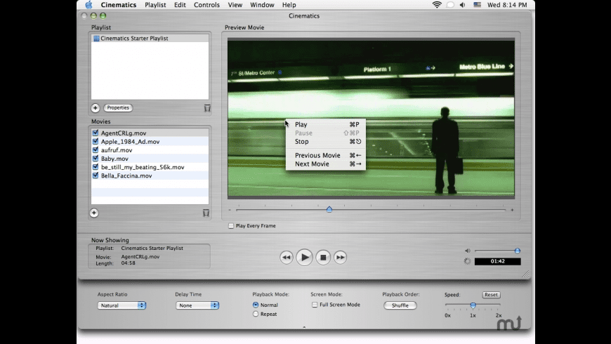 Cinematics for Mac - review, screenshots