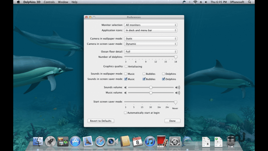 Dolphins 3D for Mac - review, screenshots