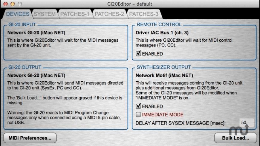 GI20Editor for Mac - review, screenshots