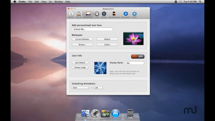 Lock Your Screen for Mac - review, screenshots