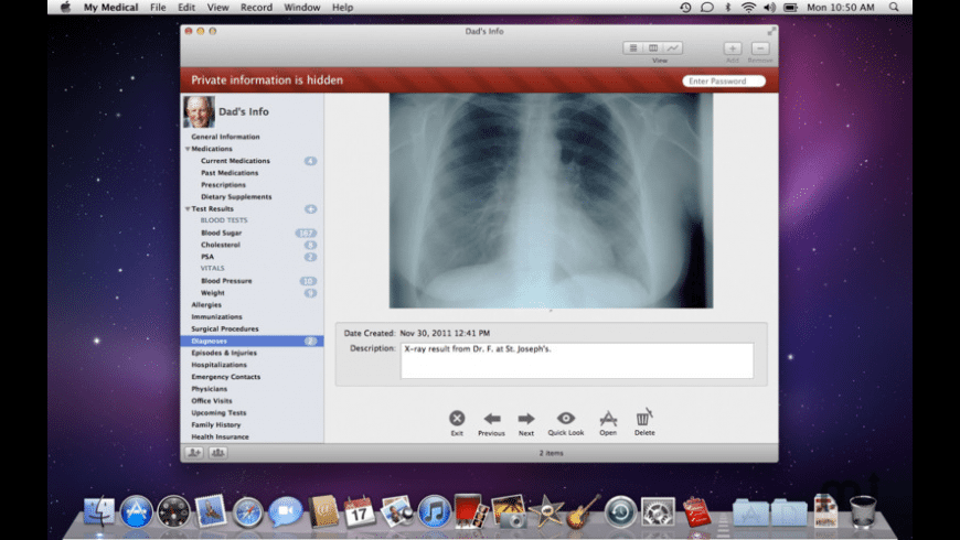 My Medical for Mac - review, screenshots