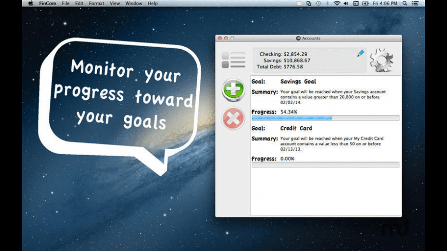 FinCom for Mac - review, screenshots