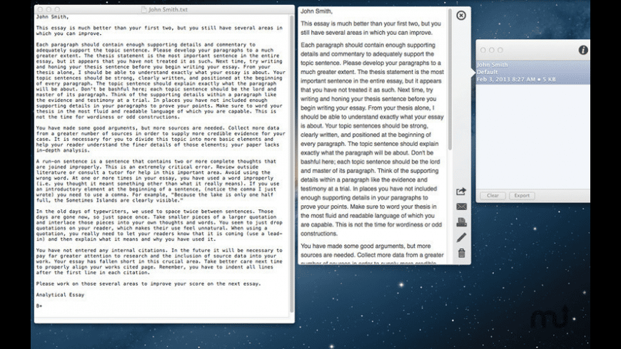 Essay Grader for Mac - review, screenshots