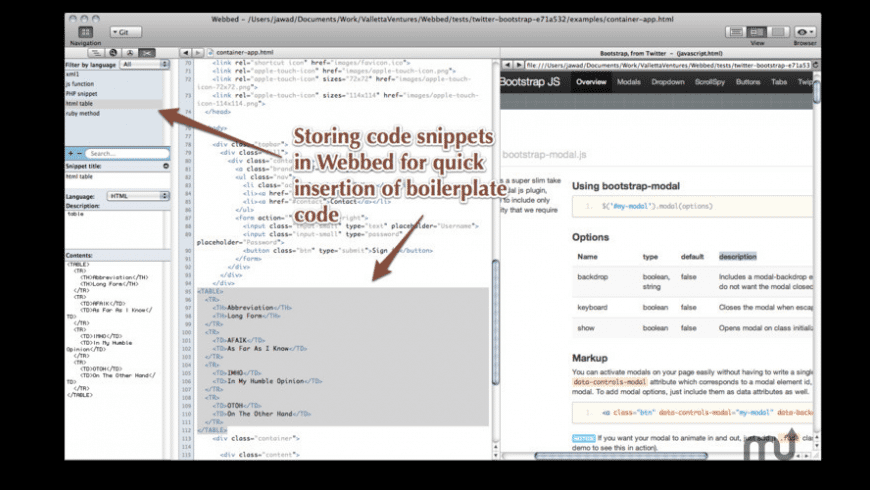 Webbed for Mac - review, screenshots