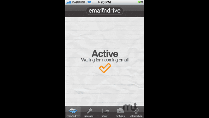 Email'nDrive for Mac - review, screenshots