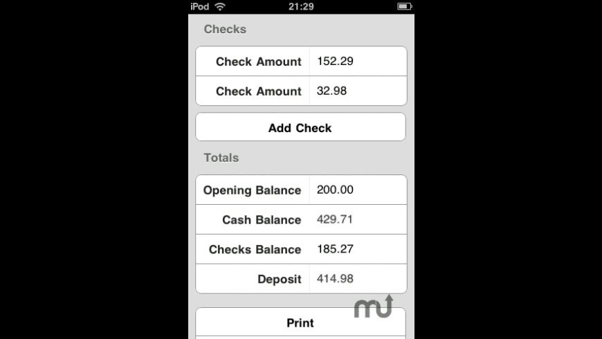Cash Out for Mac - review, screenshots