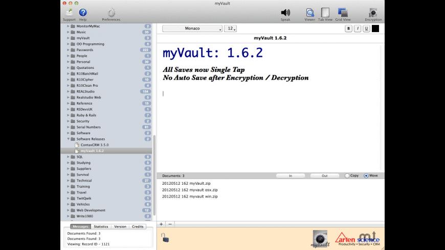 myVault for Mac - review, screenshots