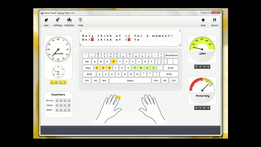 Alice Touch Typing Tutor for Mac - review, screenshots