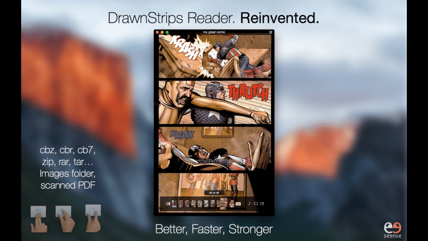DrawnStrips Reader for Mac - review, screenshots