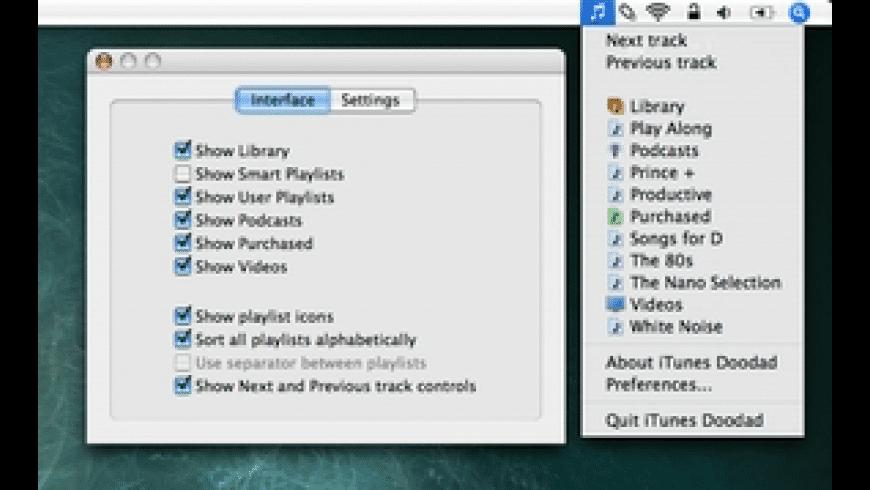iTunes Doodad for Mac - review, screenshots