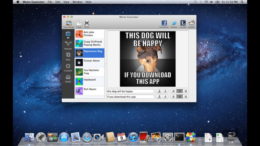 Meme Generator for Mac - review, screenshots