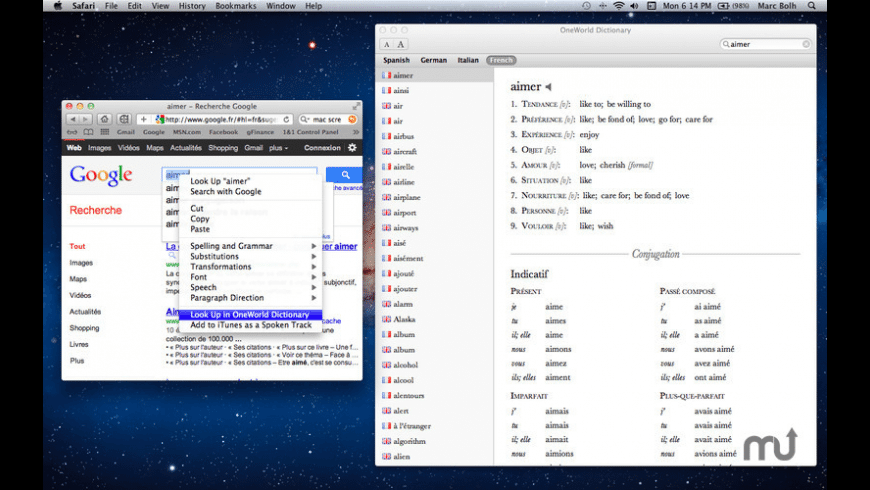 One World Dictionary for Mac - review, screenshots