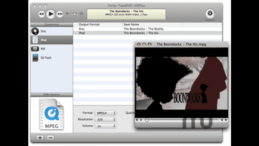 Forty-Two DVD-VX Plus for Mac - review, screenshots