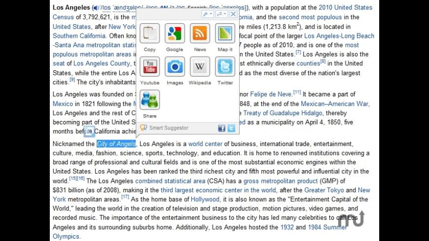 Smart Suggestor for Firefox for Mac - review, screenshots