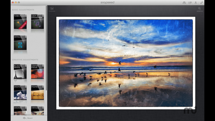 Snapseed for Mac - review, screenshots