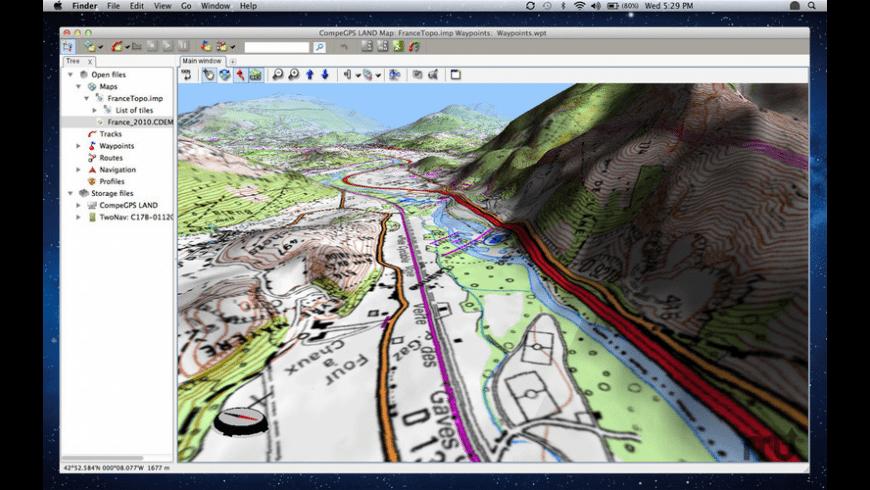 CompeGPSLand for Mac - review, screenshots