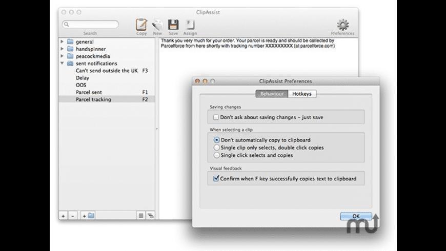 ClipAssist for Mac - review, screenshots