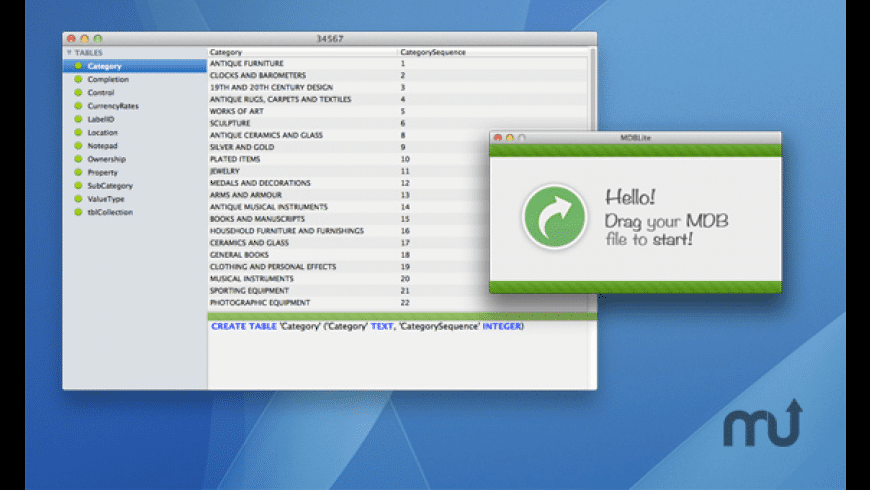 MDBLite for Mac - review, screenshots