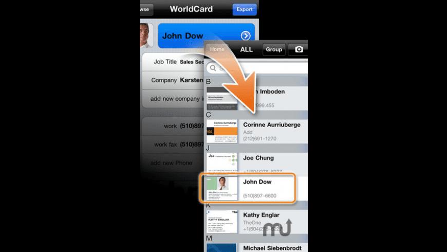 WorldCard Mobile for Mac - review, screenshots