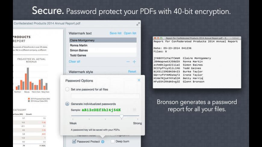 Bronson Watermarker PDF for Mac - review, screenshots