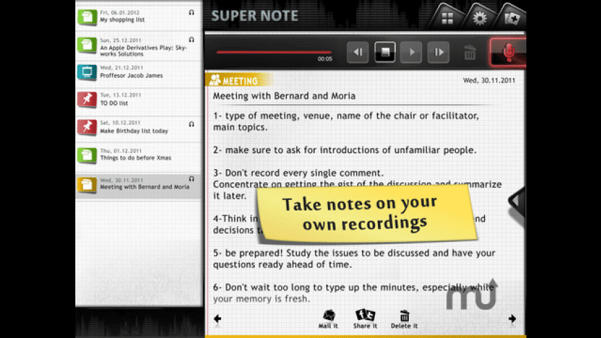 Super Note for Mac - review, screenshots