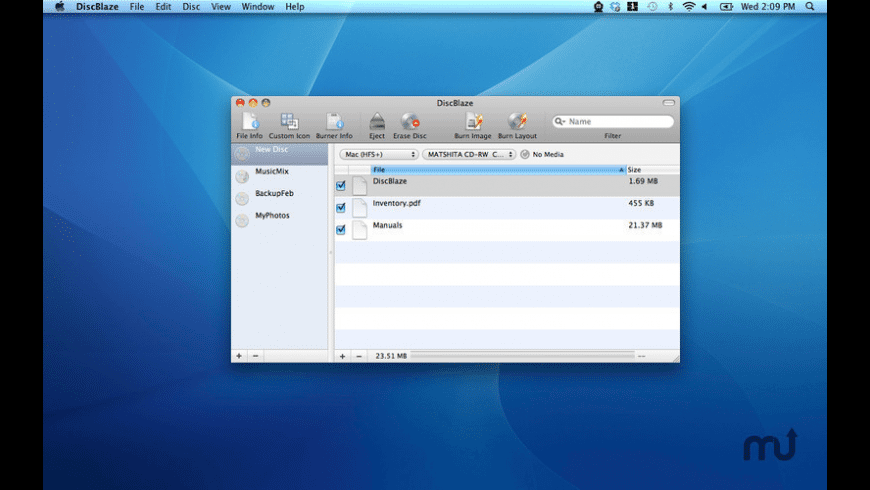 DiscBlaze for Mac - review, screenshots