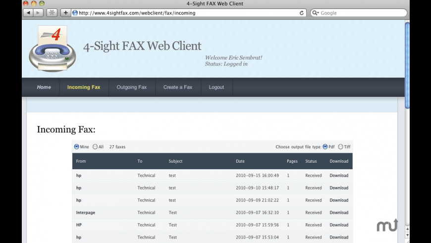 4-Sight Fax Client for Mac - review, screenshots