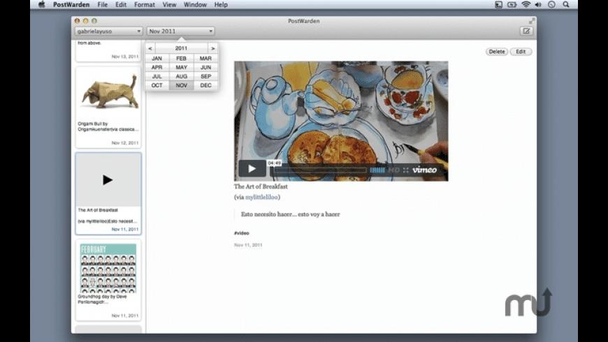 PostWarden for Mac - review, screenshots