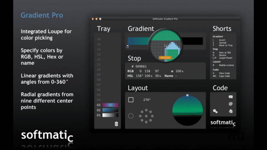Gradient Pro for Mac - review, screenshots