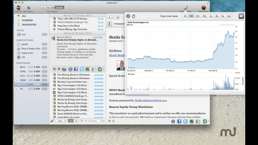 newReader for Mac - review, screenshots