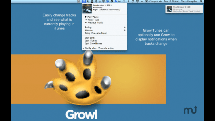 GrowlTunes for Mac - review, screenshots