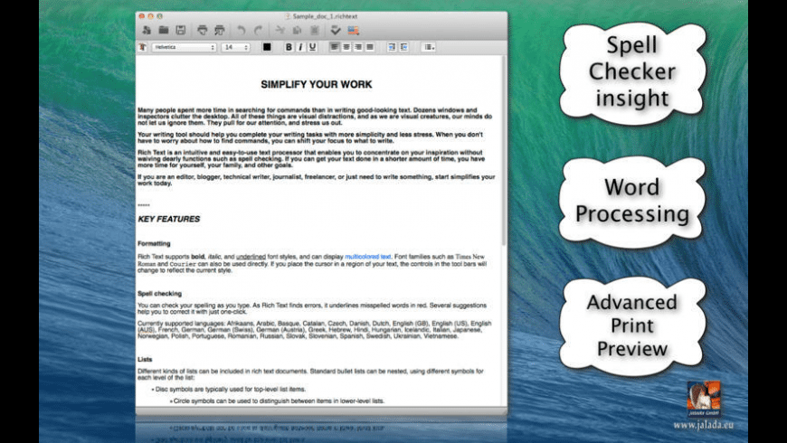 Rich Text for Mac - review, screenshots