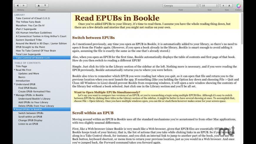 Bookle for Mac - review, screenshots