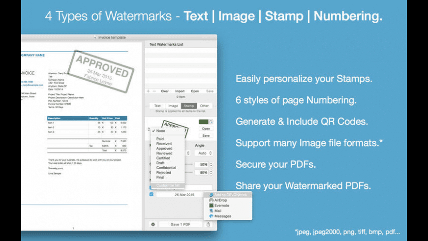 PDF Watermarker for Mac - review, screenshots