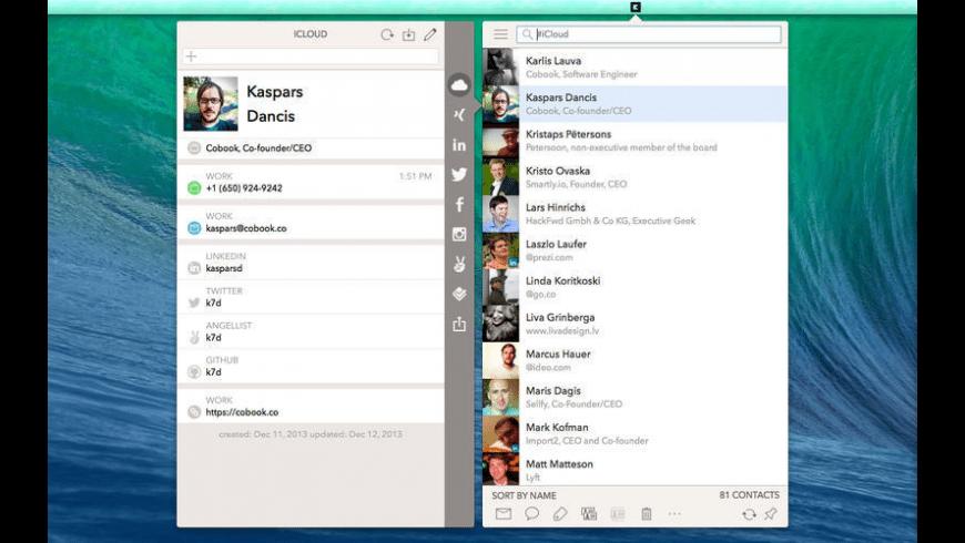 Cobook for Mac - review, screenshots