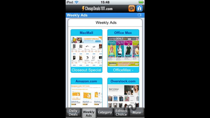 CheapDeals101 for Mac - review, screenshots