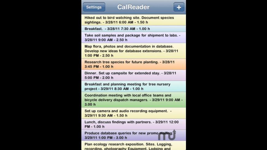 CalReader for Mac - review, screenshots