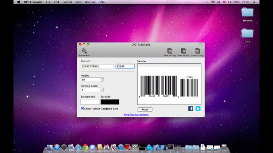 UPCEncoder for Mac - review, screenshots