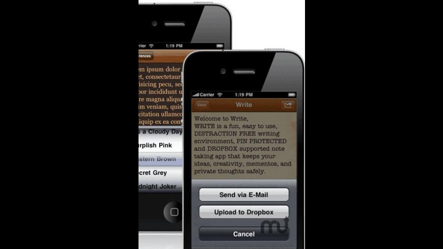 Write  for Mac - review, screenshots