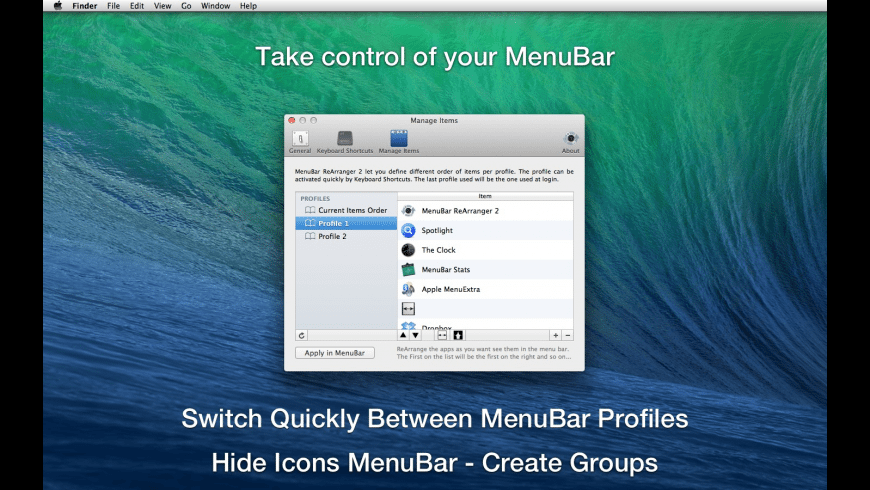 MenuBar ReArranger for Mac - review, screenshots