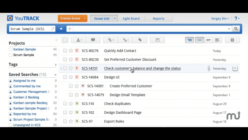 YouTrack for Mac - review, screenshots