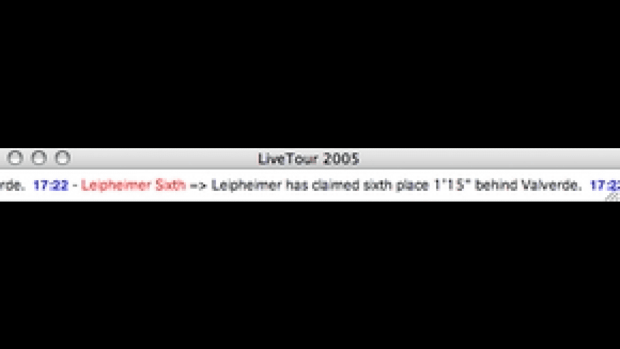 LiveTour 2005 for Mac - review, screenshots