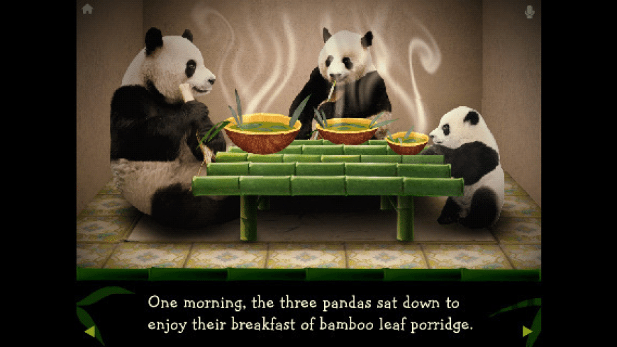 The Three Pandas Animated Storybook for Mac - review, screenshots