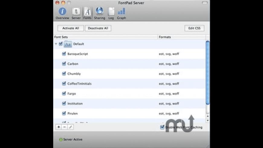 FontPad Server for Mac - review, screenshots