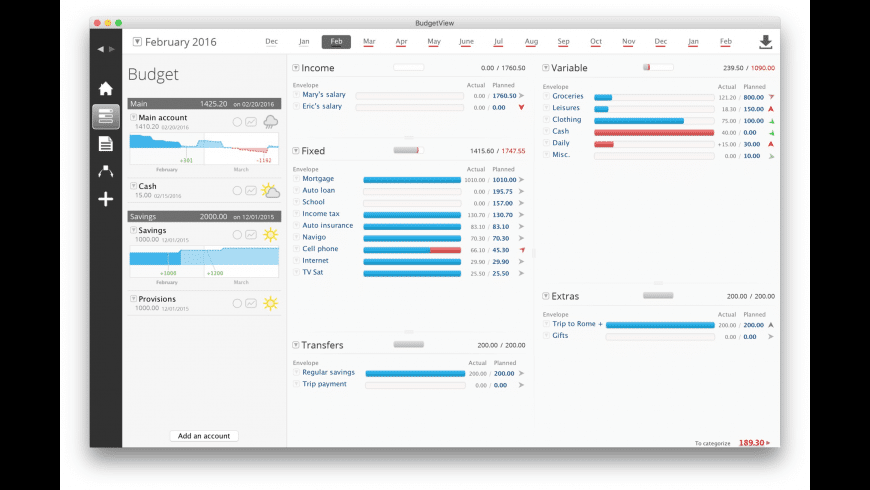 BudgetView for Mac - review, screenshots