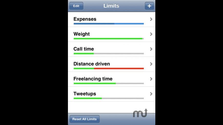 Limits (Goal Tracker) for Mac - review, screenshots