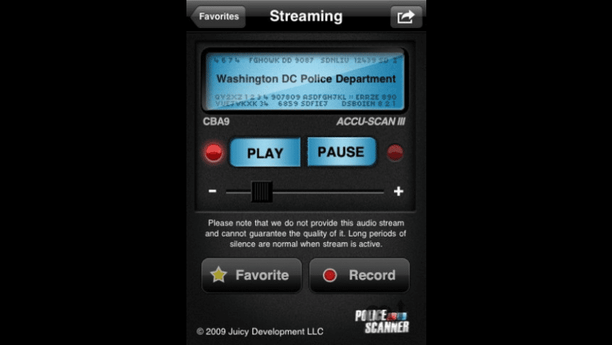 Police Scanner for Mac - review, screenshots