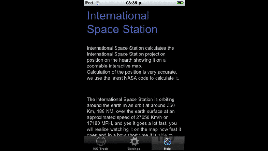 ISS Track for Mac - review, screenshots