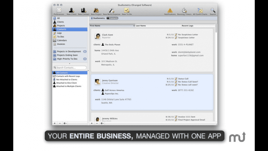 Studiometry Express for Mac - review, screenshots