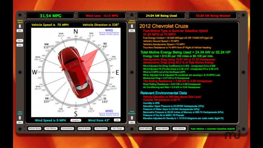 Vehicle Energy Use Simulator for Mac - review, screenshots